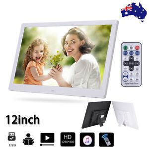 2020 NEW HD 12'' LED Digital Photo Frame Picture Alarm Clock MP4 Movie Player