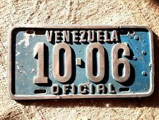 VENEZUELA Official License Plate Tag 1940's? CAST IRON, heavy, broke&re-attached
