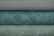 lot de 3 coupons de tissu patchwork tons vert d'eau 24x55cm