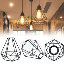 Vintage Style Metal Cage Wire Frame Ceiling Pendant Light Lamp Shade - Black
