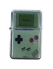 Lighter Game Boy Nintendo Silver Refillable Windproof Oil Petrol Lighter FlipTop