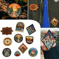 Camping Outdoor Embroidered Patches Nature Loving Badges Iron On Appliques DIY