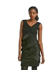 New London Times BLACK/ 10P/ Sleeveless V neck Shutter Shimmer Dress ($98)