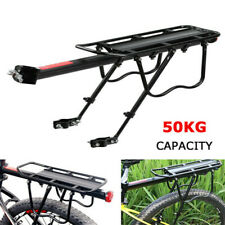 Cycling Bike Bicycle Rear Rack Carrier MTB Pannier Luggage Carrier Rack Black