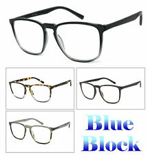 Cuadrado Luz Azul Bloqueo Gafas Ordenador Jugador LCD/LED Pantalla Anteojos UV
