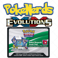 100 XY Evolutions Code Cards Pokemon TCGO PTCGO Online TCG