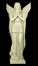 Große Engel Garten Figur betend 96 cm - Gartenfigur Friedhof Grab Deko