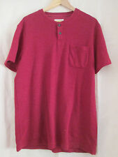 mens JACK WILLS RED COTTON BUTTON CREW NECK T SHIRT SIZE LARGE