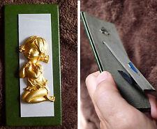 Angioletto angelo dorato anni 70 ch prega per comodino capezzale camera da letto
