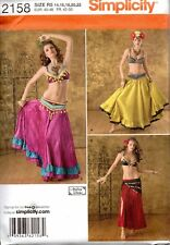 Simplicity Sewing Pattern 2158 Misses Belly Dancing Costumes Size 14-22