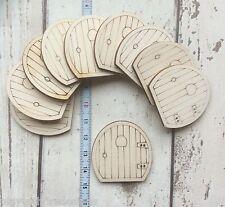 10 laser cut wooden mini tiny hobbit fairy faerie pixie elf doors unpainted