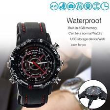 Mini 8GB DVR Waterproof HD Spy Hidden Watch Camera Night Vision Camcorder Cam U#