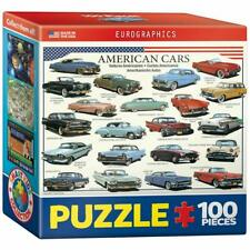 EuroGraphics American Cars of The Fifties Mini Jigsaw Puzzle (100-Piece)