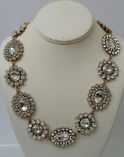 J Crew Crystal Round and Oval Necklace