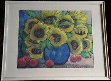 Aquarelle bouquet de tournesols Sonnenblumen allemagne allemand Karl Huber