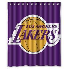 "New LA Lakers Waterproof Bathroom Shower Curtain 60"" x 72"""