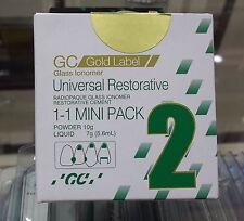GC Fuji 2 Universal Restorative Glass Ionomer Cement Dental NEW