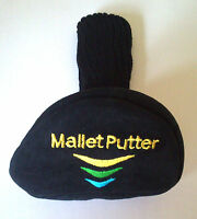 Mallet putter headcover head cover suede with sock new in sealed package