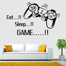 EAT SLEEP GAME Wall Stickers Decals Art Wall DIY Home Living Room Decoratives