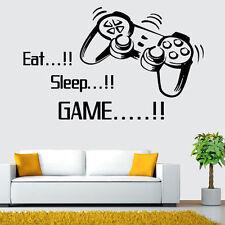 DIY Wall Decal Sticker Vinyl Art Design Eat Sleep Game For Gamer Home Room Decor