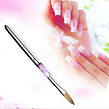 Hot Size 10 Nail Sable brush Pen Nail Art Acrylic Pen Brush Pink Nail Art Tool