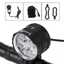 SolarStorm 8000LM 4x CREE XM-L T6 LED Front Bicycle light Bike Headlamp+6400mAh