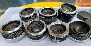 7x Untested Kenko Tamron Sankyo Camera Lens Adapter Tele-Converter MC6 MC7 BL225