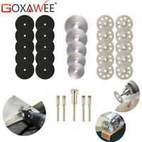 GOXAWEE 30x Rotary tool Diamond Cutting Disc Saw Blade Grinding Wheel w/ Mandrel