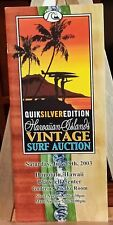 Hawaiian Islands Vintage Surf Auction Guide, July 2003 - Surf Boards and Art