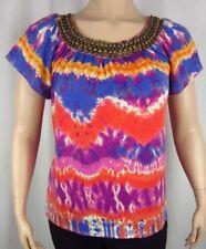 Womens NWT Elementz Purple Red Short Sleeve Top Blouse Shirt Plus Size 2X
