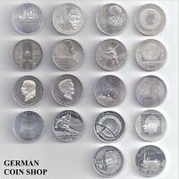Deutschland - Set 18 verschiedene 10 Euro € 2003 - 2011 in 925er Silber Germany