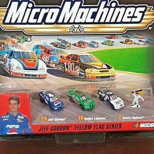 Vintage Micro Machine NASCAR Jeff Gordon Winners Circle Yellow Flag Series