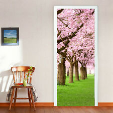 88cmW Spring Flowers Door Stickers Self-Adhesive Decals Office Home Decoration