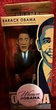 2007 NIB Barack Obama Action Figure with a HTF Women for Obama Button