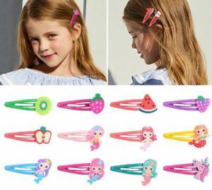 10PCS Unicorn Kids School Clips Slides Bendies Girls Hair Accessories UK 5CM UK