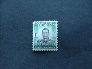 Southern Rhodesia KGVI 1937 1/- black & blue-green SG48 VLMM
