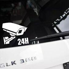 camera 24 hours  car van window  laptop JDW VINYL decal sticker white color