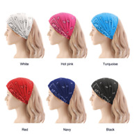 New Women's Girl Elastic Stretchy Headband Hair Band for Running Fitness Sports