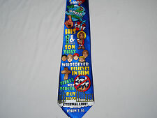 JOHN 3:16 Neck Tie Christian Religious Bible Scripture Gospel Salvation Church