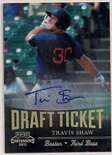 2011 Travis Shaw Playoff Draft Ticket Autograph Rookie Card RC Auto