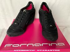 AUTHENTIC FORNARINA Black Wedge Sneaker shoes Size 38 US 8 NEW in Box