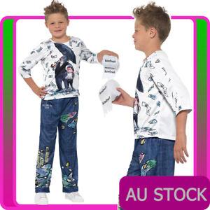 KIDS BILLIONAIRE BOY COSTUME DAVID WALLIAMS BOOK WEEK BOYS CHILD DELUXE OUTFIT