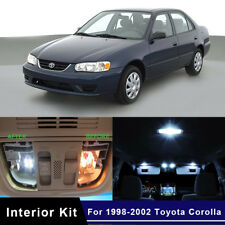 10x Xenon White LED Lights Interior Package Kit For 1998-2002 Toyota Corolla