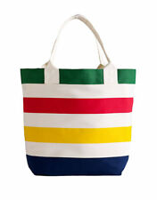 Hudson's Bay Company HBC Canada canvas style stripe shopping beach tote bag