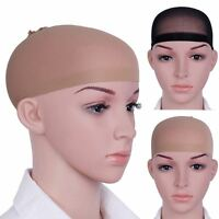 Wig Cap Hair 2 Pack Black & Nude Breathable Stocking Nylon Stretch Liner