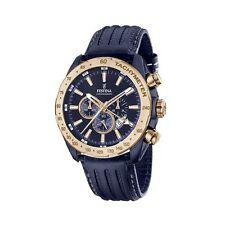 Festina F16897/1 Blue Case With Rose Gold Bezel Chronograph Watch