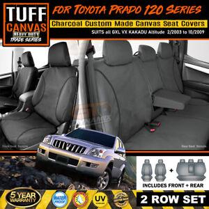 TUFF HD TRADE Canvas SEAT COVERS for Prado 120 Series GX GXL Grande 2ROW 2003-09