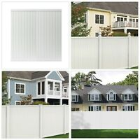 6 X 6 Ft White Vinyl Privacy Panel Fence Fencing 2-Rail Framed UV Protected