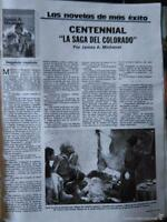 CLIPPINGS CENTENNIAL . With Raymond Burr, Barbara Carrera, Richard ChAMBERLAIN