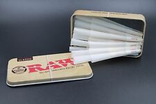 Raw 1 1/4 size Cones 25 count with Raw Tin Holder
